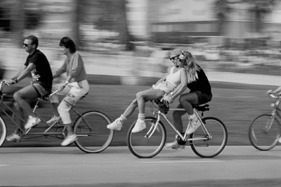 Venice Bike Path Tandem Bikers